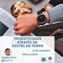 Escola do Legislativo oferece primeiro curso aberto à comunidade: Produtividade através da gestão do tempo