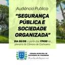 Insegurança das ruas de Cachoeiro é tema de audiência pública na Câmara