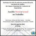 Ouvidoria da Mulher promove palestra sobre Assédio Moral e Sexual